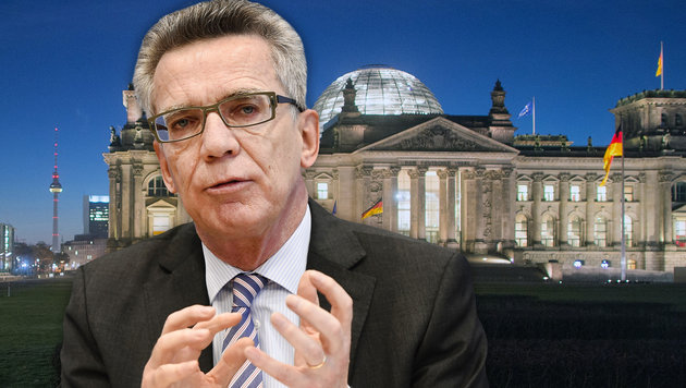 Der deutsche Innenminister Thomas de Maiziere (Bild: APA/dpa/Lukas Schulze, APA/AFP/Tobias Schwarz)