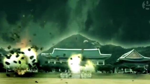 Nordkorea simuliert die Zerstörung von Seoul (Bild: Screenshot/DPRK Today)