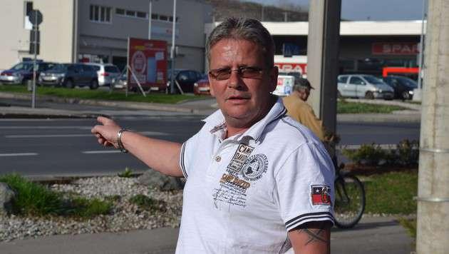 Zeuge Dieter Greifensteiner sah, wie der Täter festgenommen wurde. (Bild: Heinz Weeber)