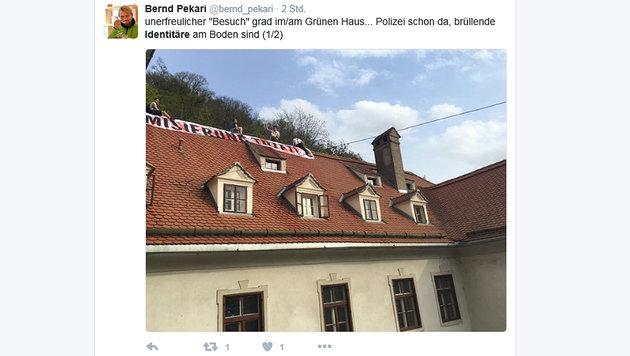 Rechtliches Nachspiel nach Aktion gegen Grüne? (Bild: Screenshot twitter.com)