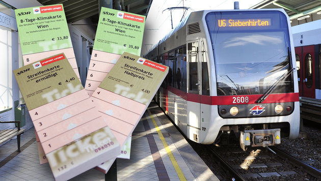 4 € pro Monat: Heftige Kritik an Flüchtlingskarte (Bild: APA/Herbert Pfarrhofer, Wiener Linien/Johannes Zinner)