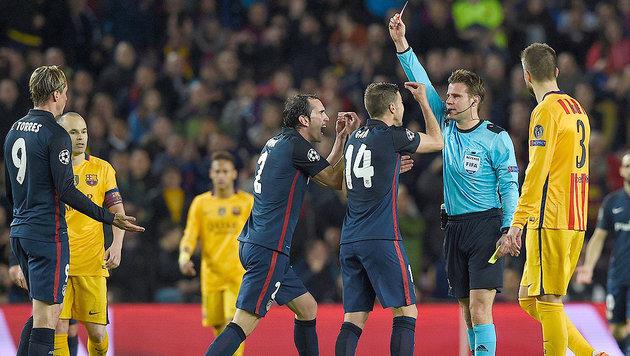 """Atletico tobt: """"Die UEFA schützt Barca!"""" (Bild: APA/AFP/LLUIS GENE)"""