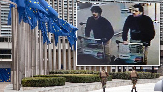 Attentäter von Brüssel putzte im EU-Parlament (Bild: AP, APA/AFP/BELGIAN FEDERAL POLICE/HANDOUT)