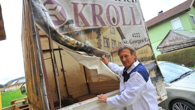 Eddie Kroll und seine Mitarbeiter mussten schon vor den Brückensperren viel Stau in Kauf nehmen. (Bild: Horst Einöder)