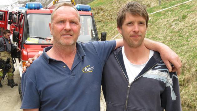 Franz Lamprecht und sein Sohn Markus wurden zu Lebensrettern. (Bild: ZOOM-TIROL)