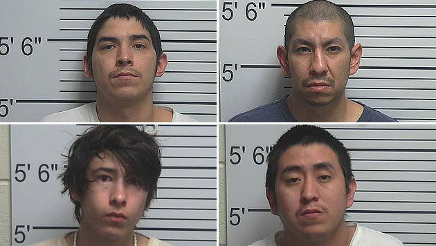 Vier Männern aus Utah droht wegen der Gruppenvergewaltigung einer Neunjährigen lebenslange Haft. (Bild: facebook.com/UintahCountySheriff)