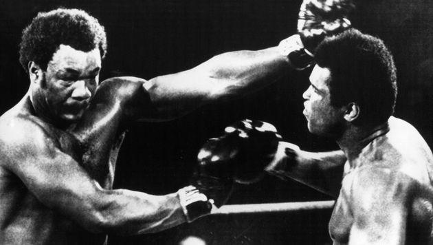 Ali (re.) gegen Foreman 1974: ein ähnliches Duell wir Rosberg gegen Hamilton heute? (Bild: dpa)
