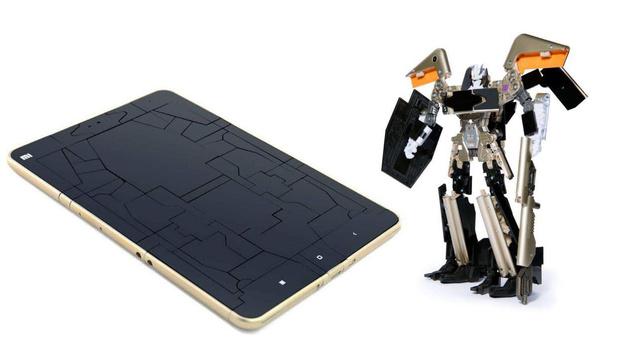 "Xiaomi enthüllt Transformer-Tablet ""Soundwave"" (Bild: Xiaomi/Hasbro)"
