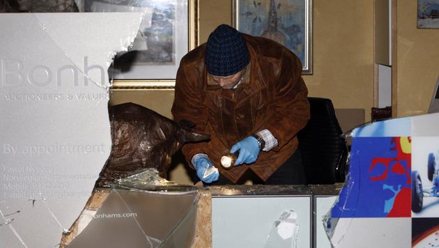 Ermittler bei der Tatortsicherung im Jahr 2009 (Bild: AP)