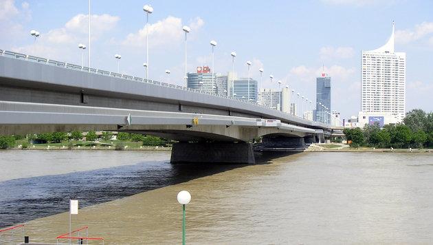 Die neu errichtete Reichsbrücke wurde am 1. November 1980 eröffnet. (Bild: Wolfgang Pribitzer/Priwo)