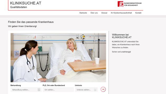 kliniksuche.at soll Spitalsuche vereinfachen (Bild: kliniksuche.at)
