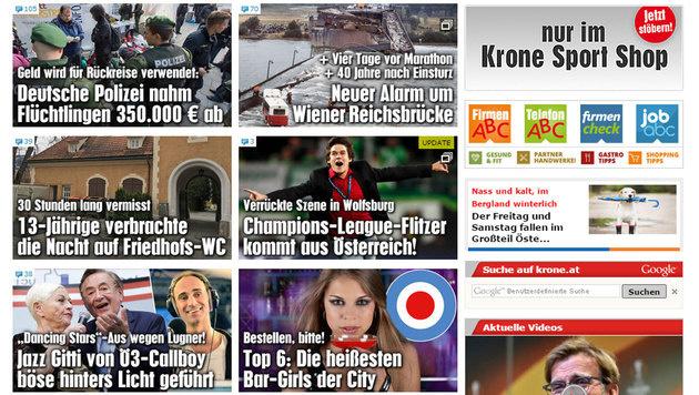 krone.at nun offiziell auf Platz 1 in Österreich (Bild: krone.at)