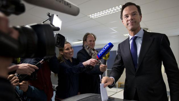 Der niederländische Premierminister Mark Rutte (Bild: AP)