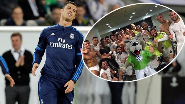 """""""Ätsch, Ronaldo!"""" Deutsche feiern Wolfsburg (Bild: AP, twitter.com)"""