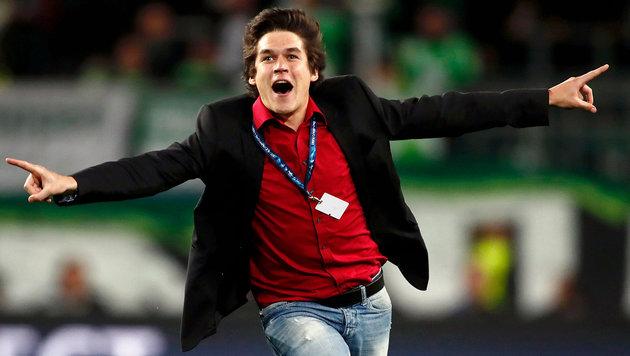 Champions-League-Flitzer kommt aus Österreich! (Bild: APA/AFP/ODD ANDERSEN)