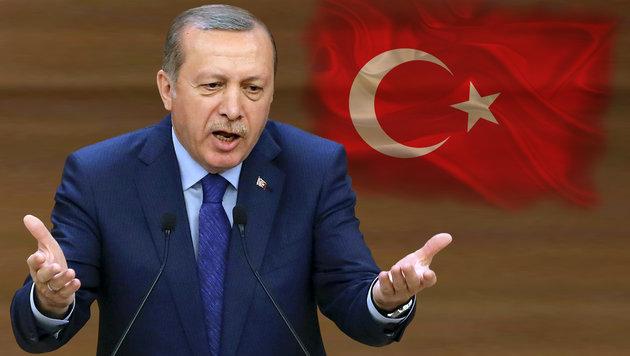 Der türkische Präsident schießt scharf in Richtung Europäische Union. (Bild: APA/AFP/ADEM ALTAN, thinkstockphotos.de)