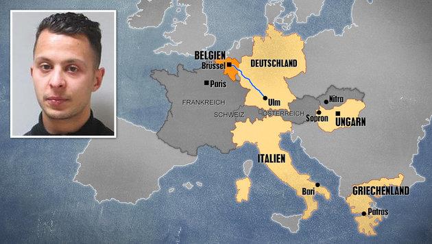 "Salah Abdeslam war der ""Chauffeur des Terrors"" (Bild: APA/AFP/FEDERAL POLICE OF BELGIUM/STR, thinkstockphotos.de)"
