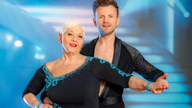 """Jazz Gitti und ihr """"Dancing Stars""""-Partner Willi Gabalier (Bild: ORF)"""