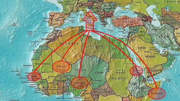 Auch aus afrikanischen Ländern kommen Migranten nach Europa. (Bild: commons.wikimedia.org)