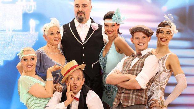 """Die """"Dancing Stars"""" beim Tanzmarathon (Bild: ORF)"""
