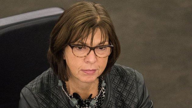 Die Deutsche Rebecca Harms ist EU-Fraktionschefin der Gr�nen. (Bild: EPA)