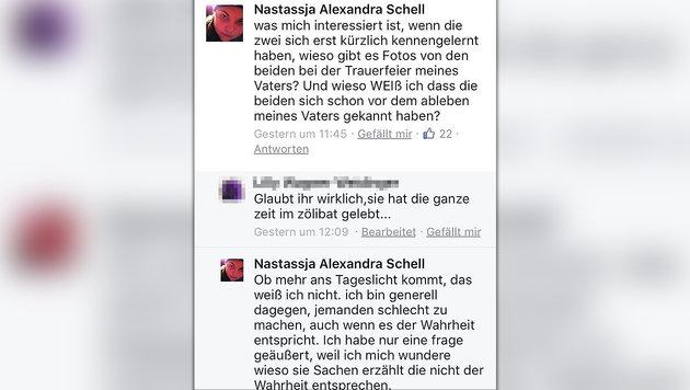 """Auf der """"Krone""""-Facebook-Seite meldete sich Nastassja Schell zu Wort. (Bild: facebook.com/kronenzeitung)"""