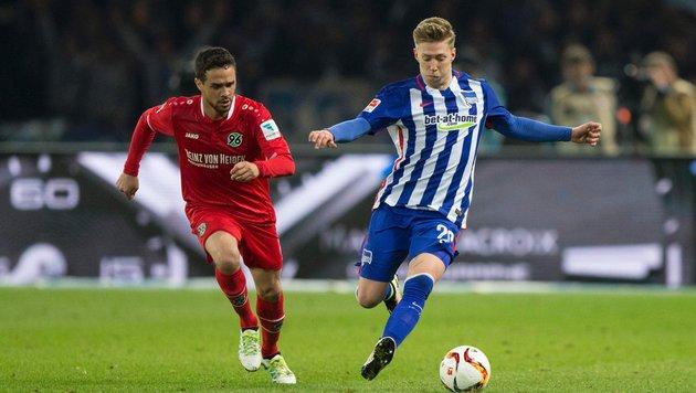 Hertha BSC lässt gegen Hannover 96 Punkte liegen (Bild: APA/AFP/AXEL SCHMIDT)