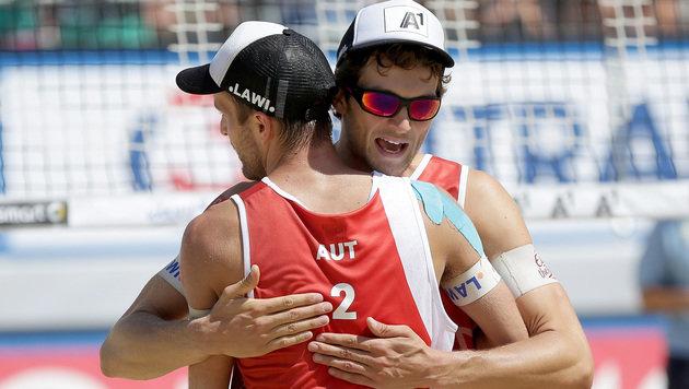 Huber/Seidl verlieren Doha-Finale gegen EM-Zweite (Bild: APA/GEORG HOCHMUTH)