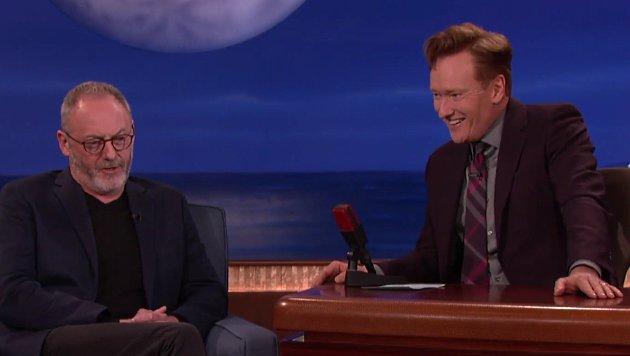 Liam Cunningham bei Talker Conan O'Brien (Bild: YouTube.com)