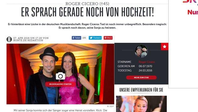 Deutsche verwechseln Klima mit Cicero-Liebe (Bild: Screenshot Bunte.de)