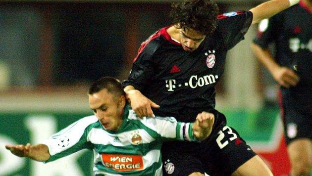 14.9.2005: Gegen Kumpel Hargreaves von Bayern gab's für Hofmann nix zu holen: null Punkte in der CL. (Bild: unbegrenzt verfuegbar)