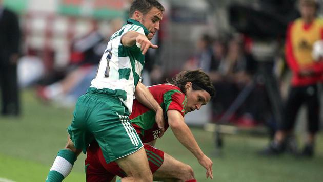 23.8.2005: Das Wunder von Moskau ist perfekt! Hofmann zieht mit Rapid in die Champions League ein. (Bild: Hans Klaus Techt)