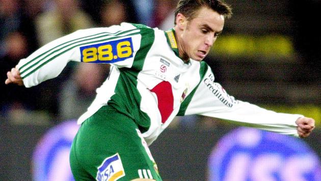 27.10.2002: Hofmann erzielt sein erstes Tor für Rapid - bei der 1:2-Pleite gegen die Austria. (Bild: GEPA)