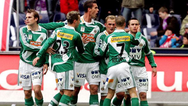 23.3.2008: Rapid gewinnt gegen Salzburg 7:0, wird später Meister. Hofmann trifft einmal. (Bild: GEPA)