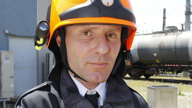 Feuerwehrchef Reinhold Ortler (Bild: MARKUS TSCHEPP)