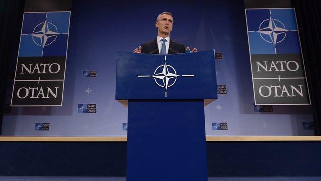 Generalsekretär Jens Stoltenberg reaktiviert den NATO-Russland-Rat. (Bild: APA/AFP/JOHN THYS)