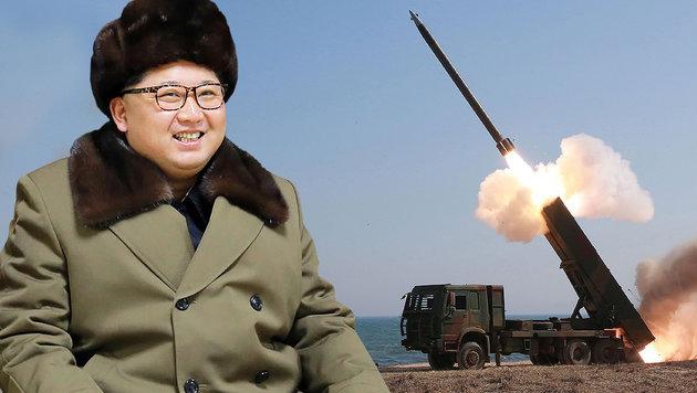 USA erwägen militärische Option gegen Nordkorea (Bild: APA/AFP/KCNA VIA KNS/KCNA)