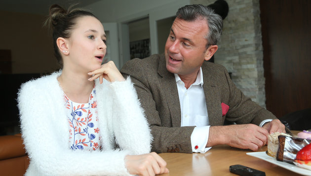 Anna-Sophie und ihr Vater Norbert Hofer (Bild: KRONEN ZEITUNG)