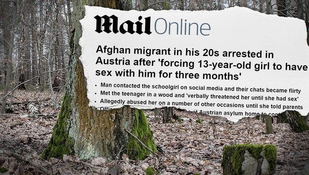 Afghane zwang 13-Jährige zum Sex - festgenommen (Bild: thinkstockphotos.de (Symbolbild), DailyMail)