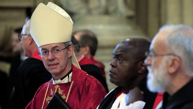 Der Erzbischof von Canterbury, Justin Welby, sorgte bei seiner Mutter für einen gehörigen Schock. (Bild: APA/AFP/JONATHAN BRADY)