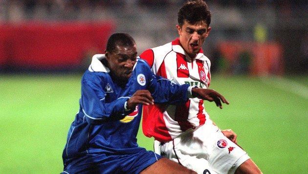 Leicester gegen Roter Stern Belgrad im Hanappi-Stadion (Bild: APA)