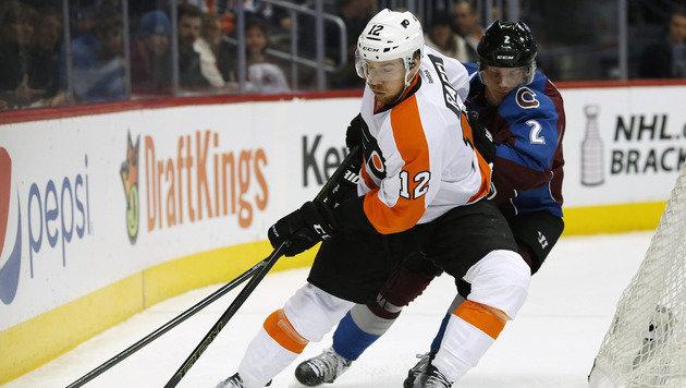 Raffl mit Philadelphia Flyers im NHL-Play-off (Bild: AP)