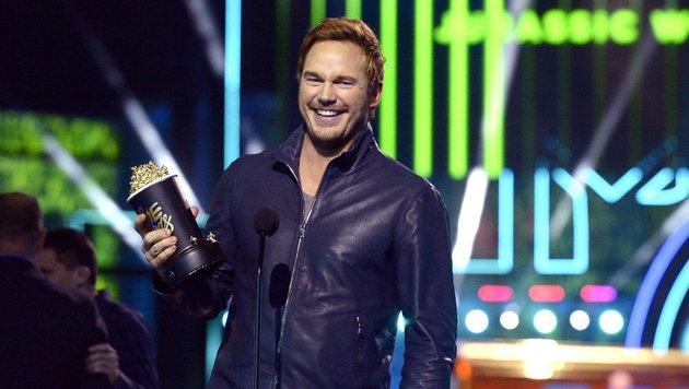 """Chris Pratt gewann die Auszeichnung für die """"beste Action-Performance"""" in dem Film """"Jurassic World"""". (Bild: Kevork Djansezian/Invision/AP)"""