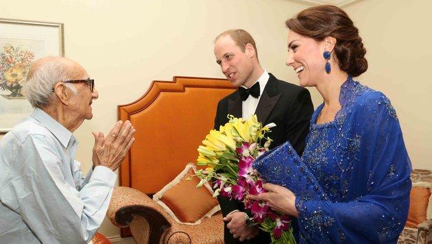 William und Kate luden den 93-jährigen Boman Kohinoo zu einem Treffen ein. (Bild: AFP)