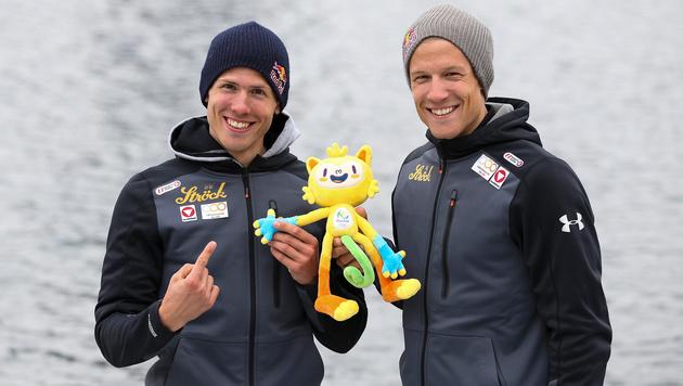 """Bernhard und Paul Sieber: """"Ziel ist Olympia-Gold!"""" (Bild: GEPA)"""