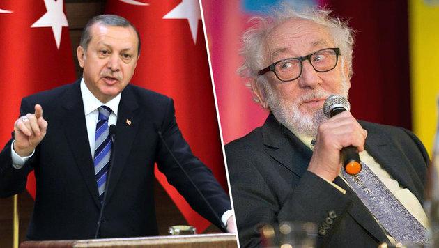 Dieter Hallervorden schießt sich auf Erdogan ein (Bild: APA/AFP/TURKISH PRESIDENTIAL PRESS OFFICE, facebook.com)