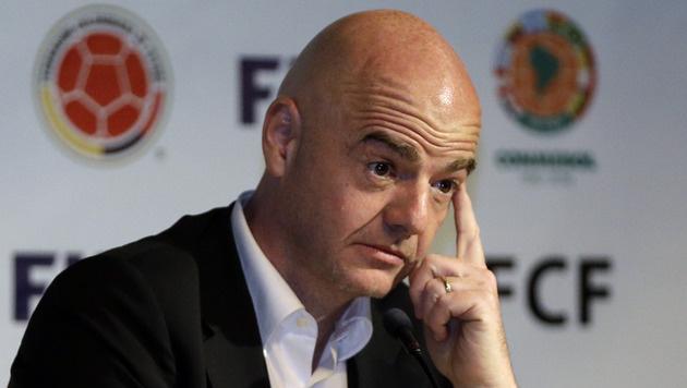 """FIFA-Chef Infantino über Vorwürfe: """"Eine Schande"""" (Bild: AP)"""