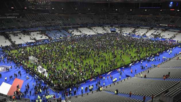Das Pariser Stade de France war schon im November ein Ziel der Terroristen. (Bild: AFP)