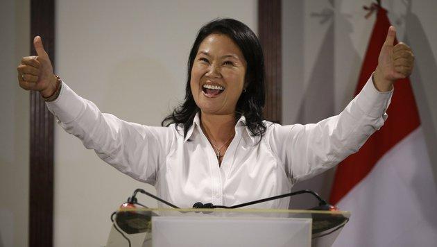 Jubel bei Keiko Fujimori (Bild: ASSOCIATED PRESS)