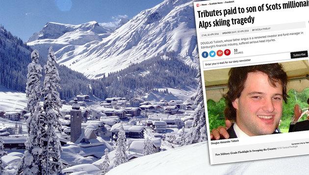 Tödlicher Skiunfall: Millionär trauert um Sohn (Bild: Lech Zürs Tourismus, dailyrecord.co.uk)